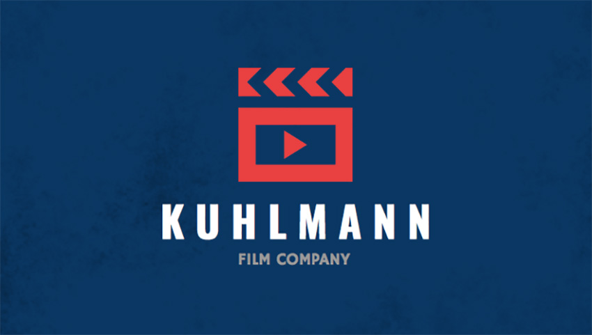 Business Card Template for Film Production Companies with Customizable Graphics