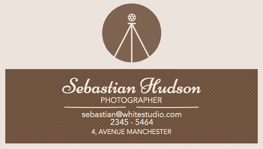 Business Card Template for Professional Photographers