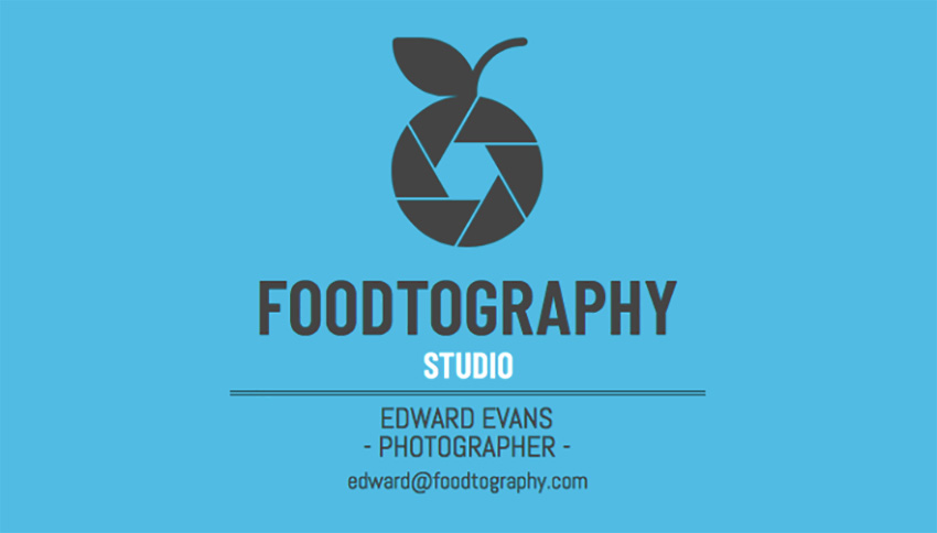 Food Photography Business Card Template