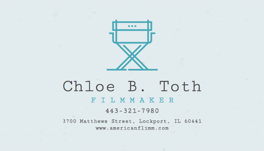 Modern Business Card Template for Filmmakers