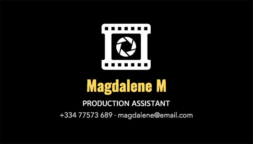 Professional Business Card Template for Film Producers