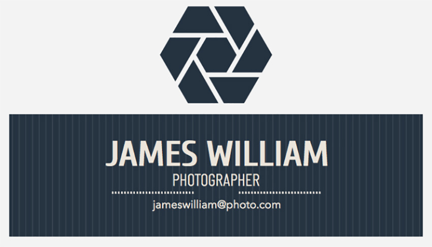 Social Photographer Business Card Maker