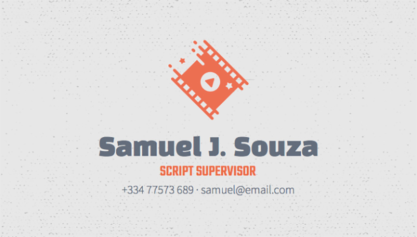 Unique Business Card Maker for Script Supervisors