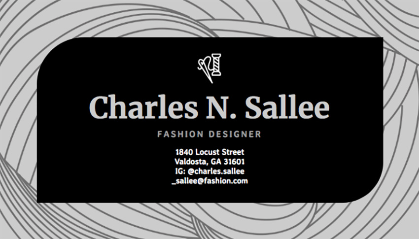 Business Card Maker for Fashion Designers