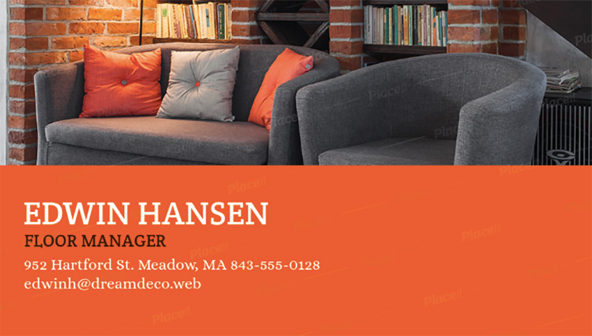 Business Card Maker for Furniture Businesses