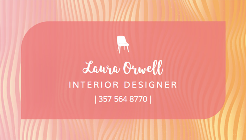 Custom Business Card Template for Furniture Designers