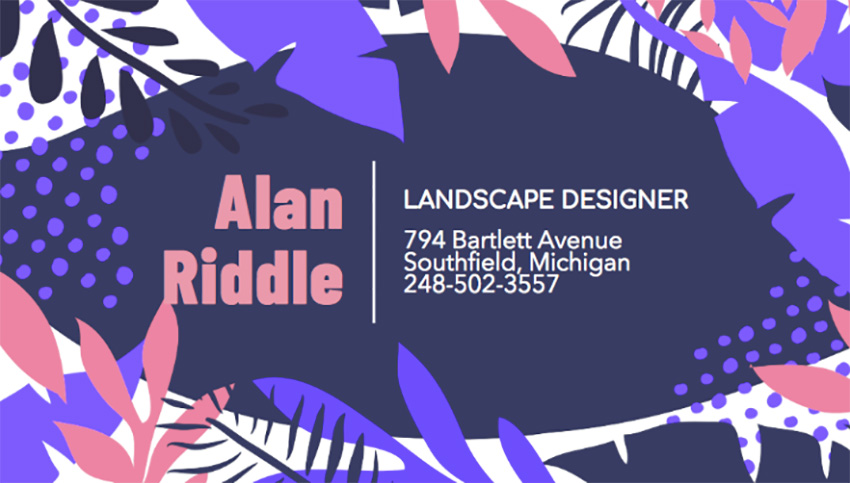 Landscape Business Card Maker with Graphic Background Design