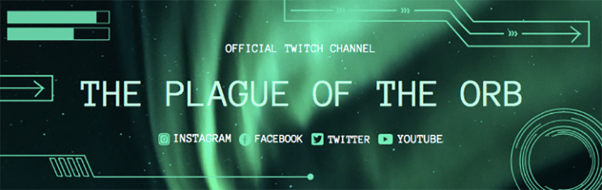Twitch Banner Creator with Aurora Borealis Background