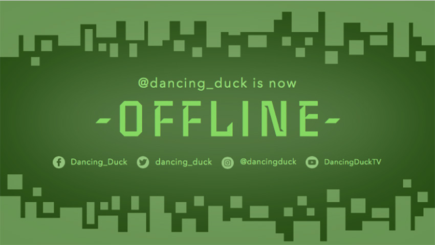 Twitch Offline Banner Maker with a Geometric Background with Square