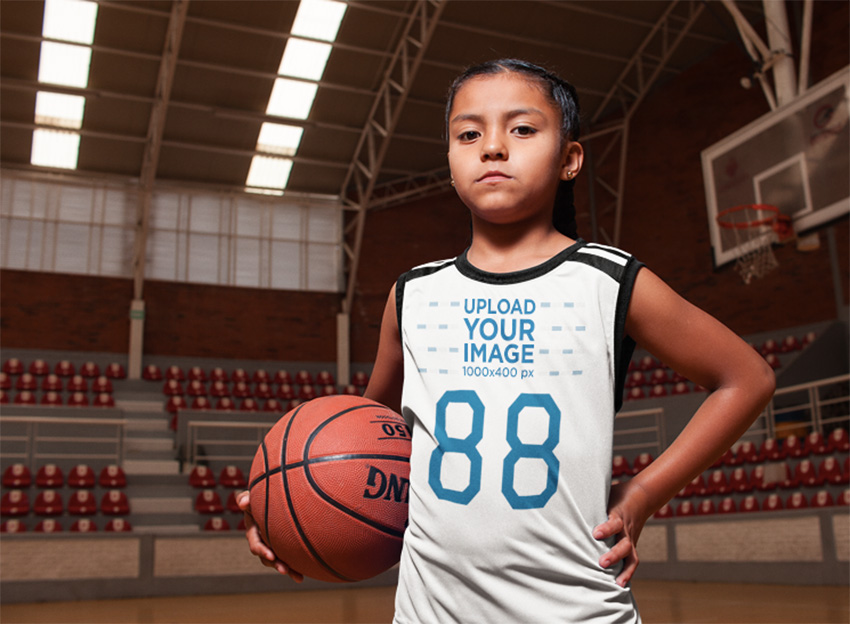 Basketball Jersey Maker - Portrait of a Kid at the Court