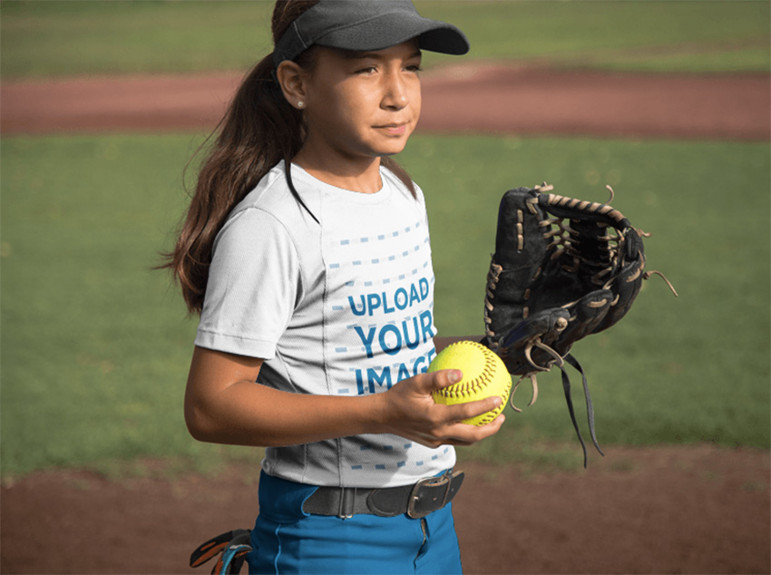 Custom Softball Jerseys - Girl at a Match