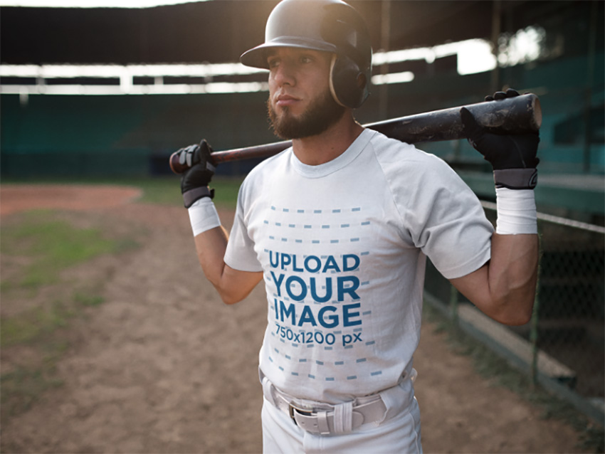 Baseball Uniform Builder - Batter in the Field