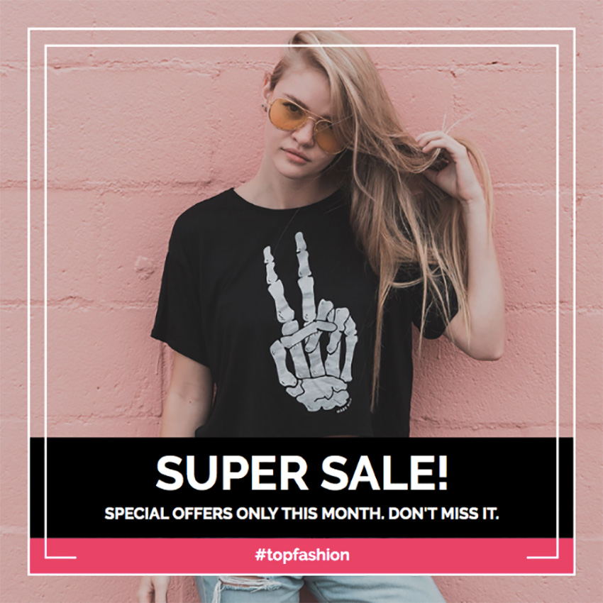 Image of Edgy Instagram Post Creator for Fashion Sales