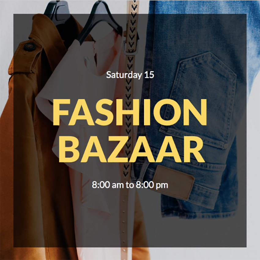 Fashion Bazaar Instagram Post Creator