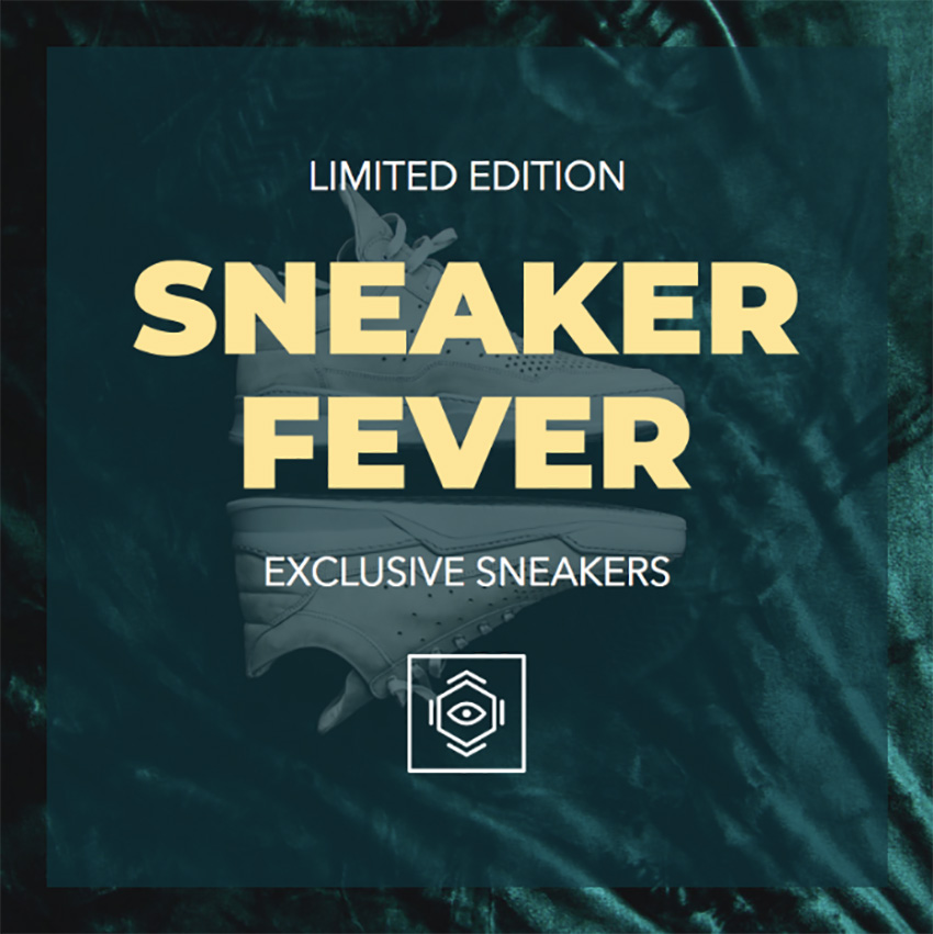 Instagram Post Template for a Sneaker Fever Promotion