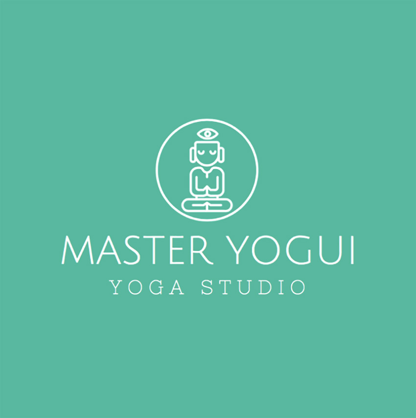 Online Logo Template for Yoga Studio with Yoga Images