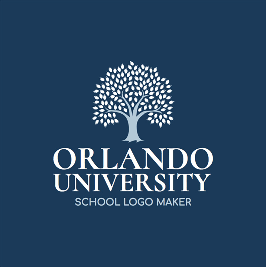 University Logo Maker with Tree Graphic