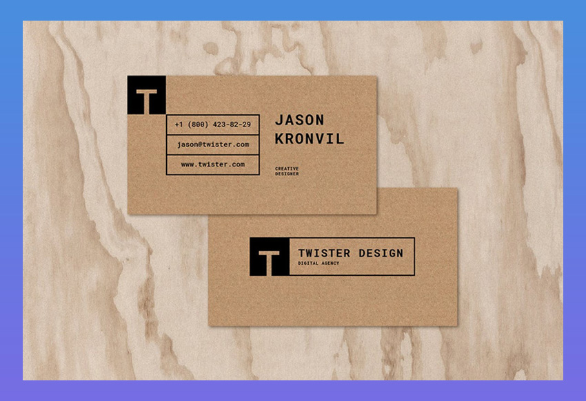 Twister Personal Business Card