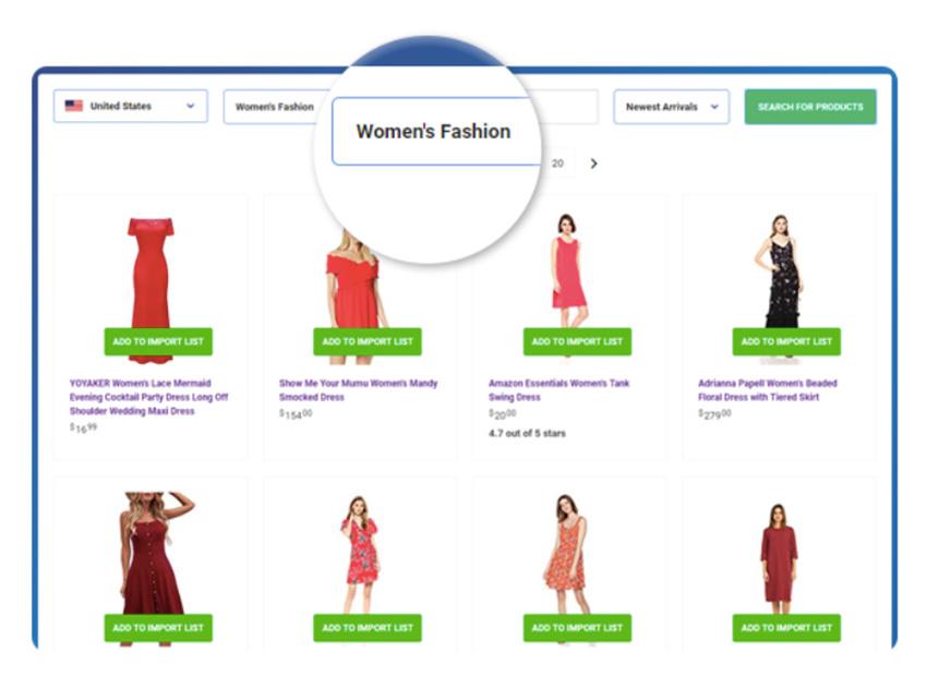 Página web de afiliado que vende productos de Amazon