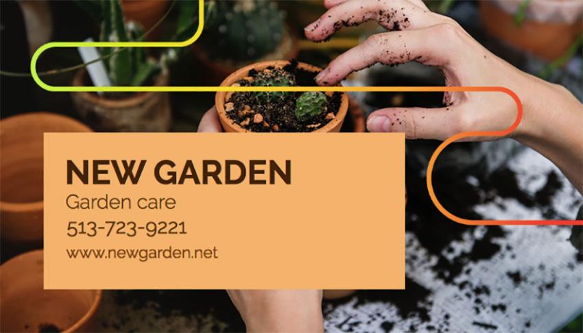 Garden Care Business Card Template