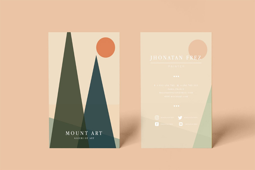 Mount Business Card