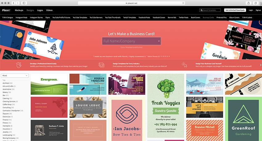 Placeit Business Card Maker