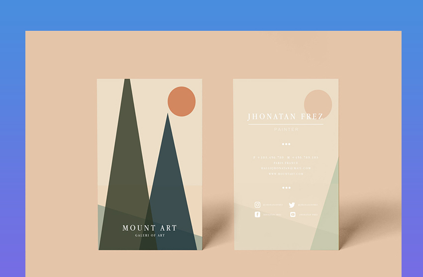 Mount Business Cards