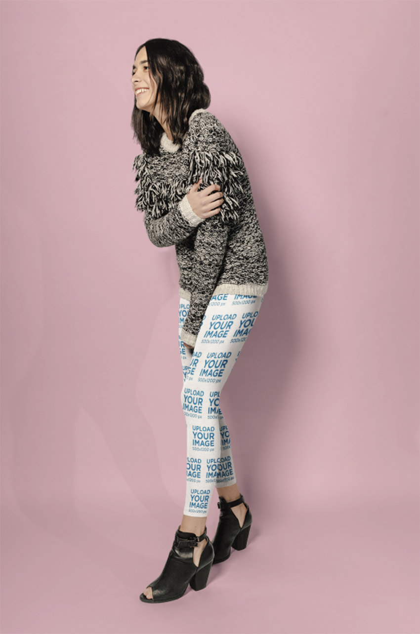 Womens Leggings Mockup at a Photo Studio