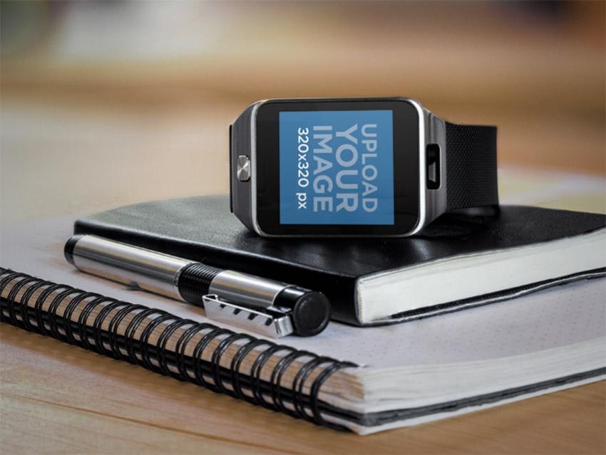 Mockup Generator Samsung Galaxy Gear 2 Smartwatch