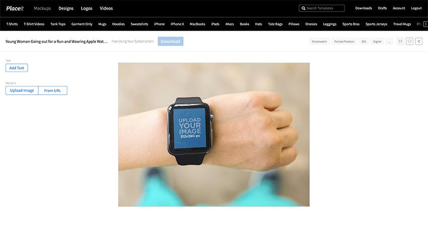 Select a Smartwatch Mockup Template You Like