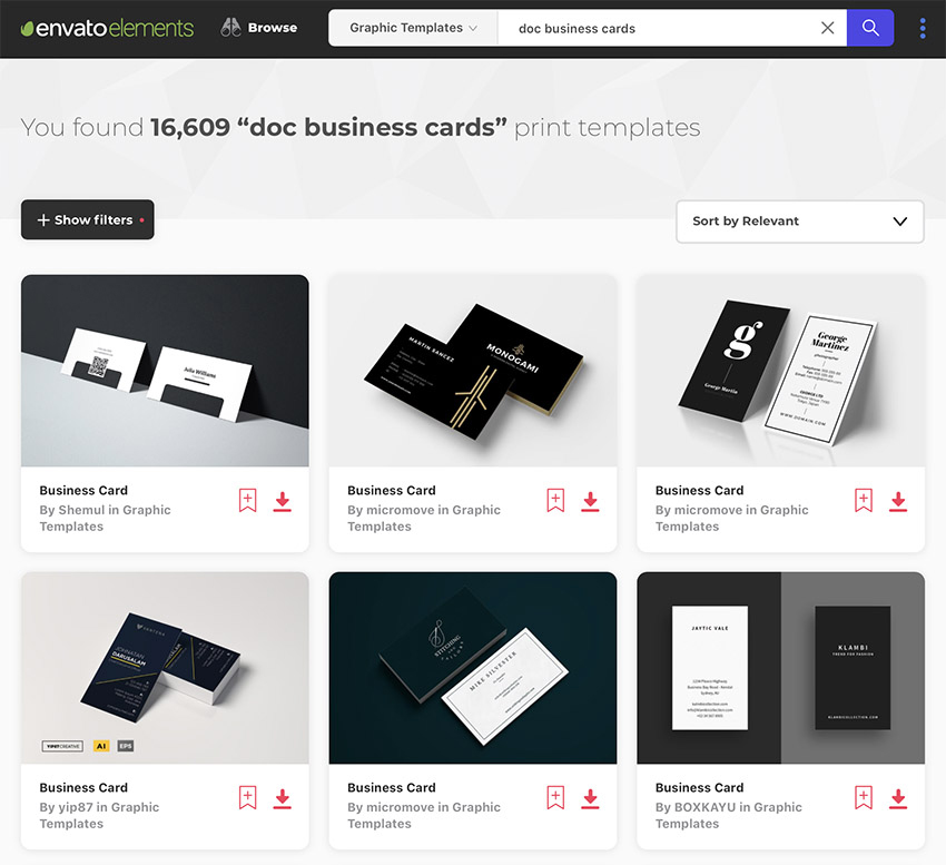 16 Free & Premium Google Docs Business Card Templates To