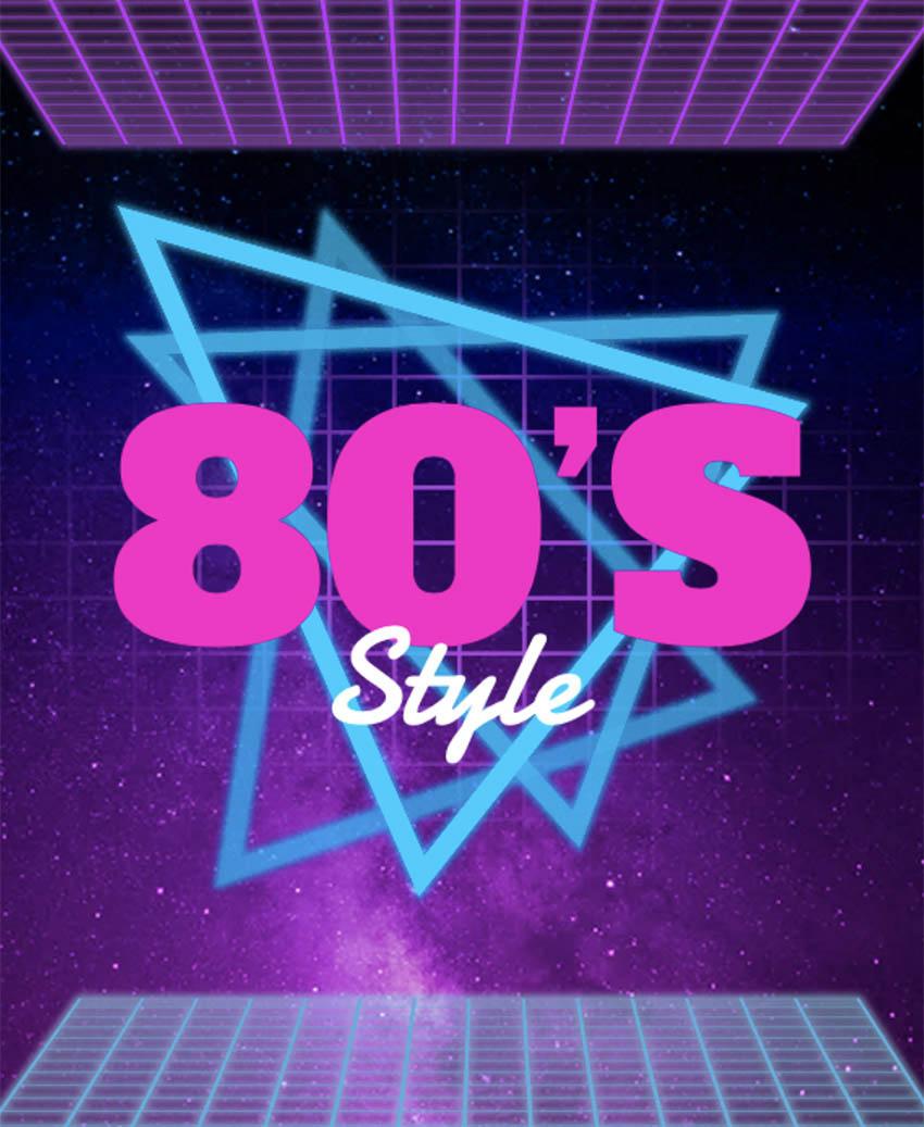 80s T-Shirt Design Template
