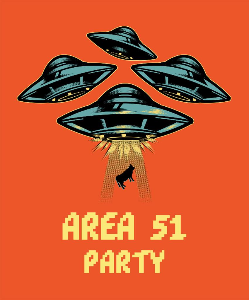 Area 51 T-Shirt Design Template