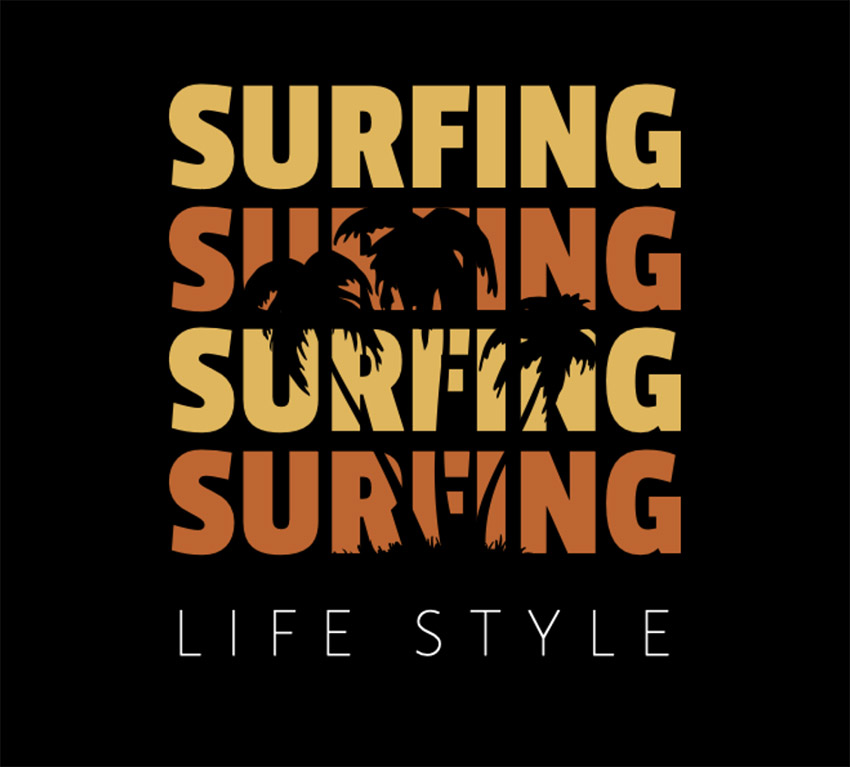 Surf Typography T-Shirt Design Maker