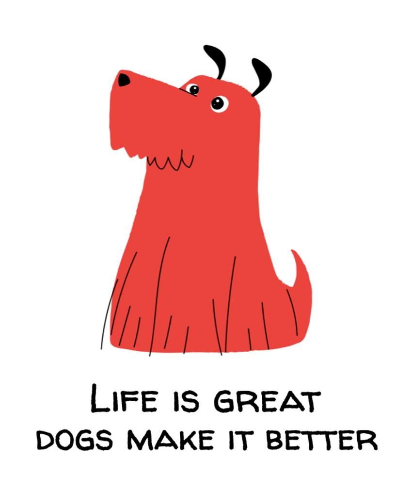 T-Shirt Design Maker Featuring a Furry Dog Illustration