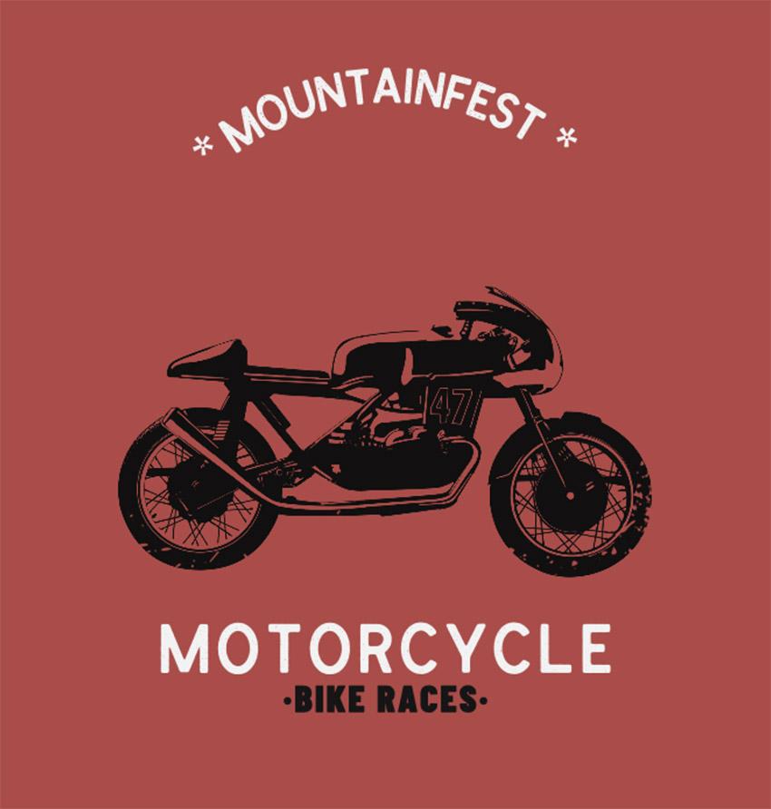 T-Shirt Design Template for a Biker Festival