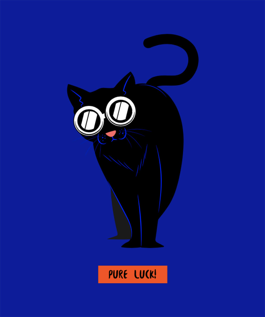 Pure Luck T-Shirt Design Creator for Cat Lovers