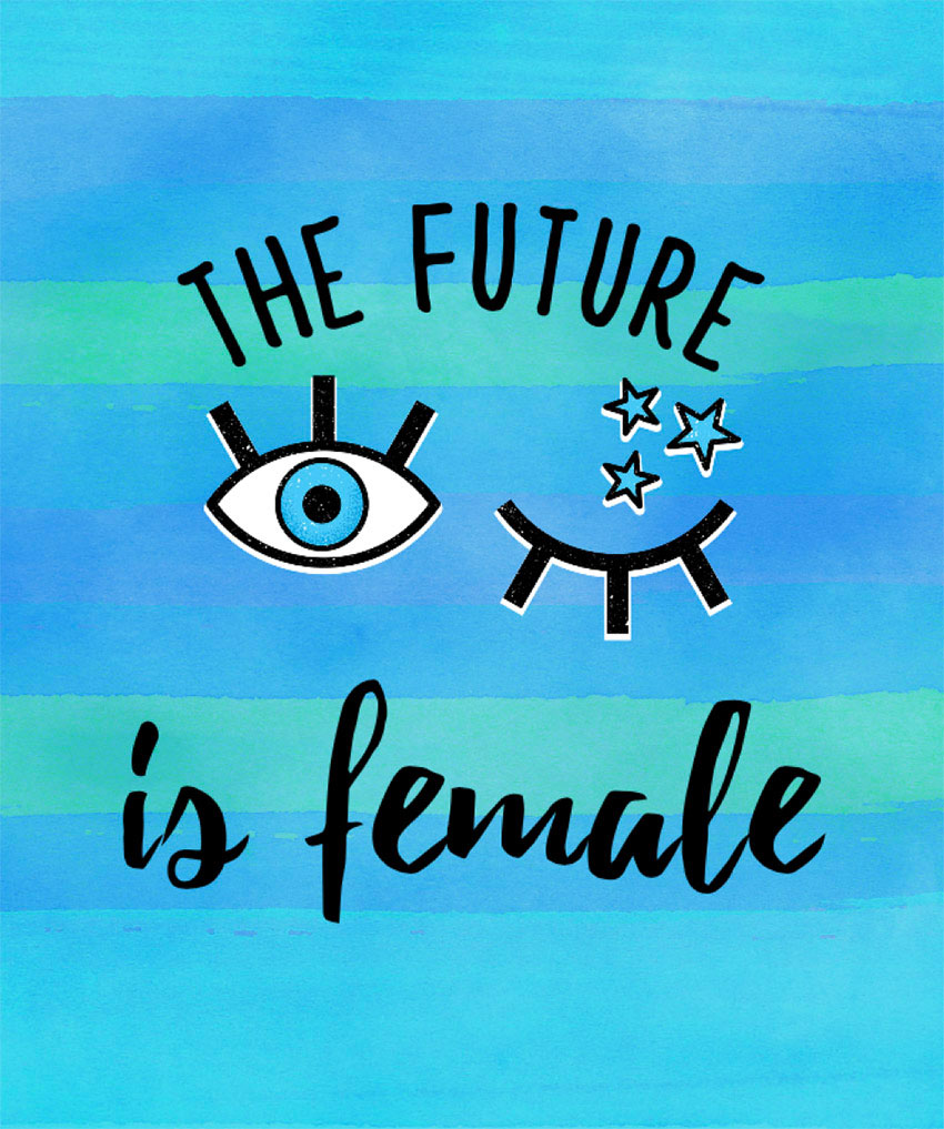 Feminist T-Shirt Template with 2000s Style