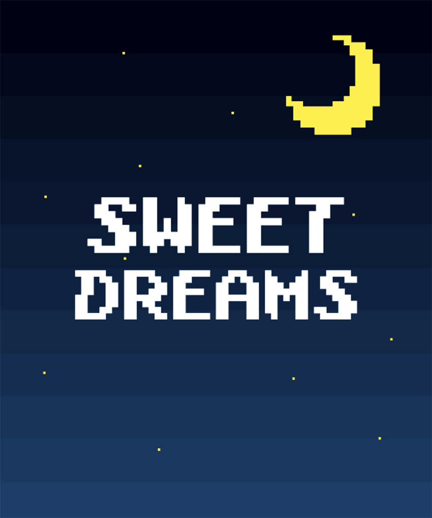 Moon T-Shirt Design Template with 8-Bit Graphics