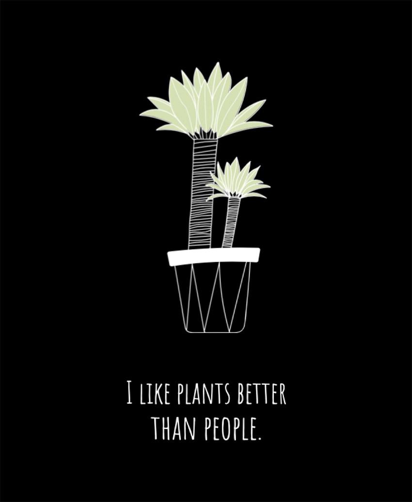 Plants T-Shirt Design Template