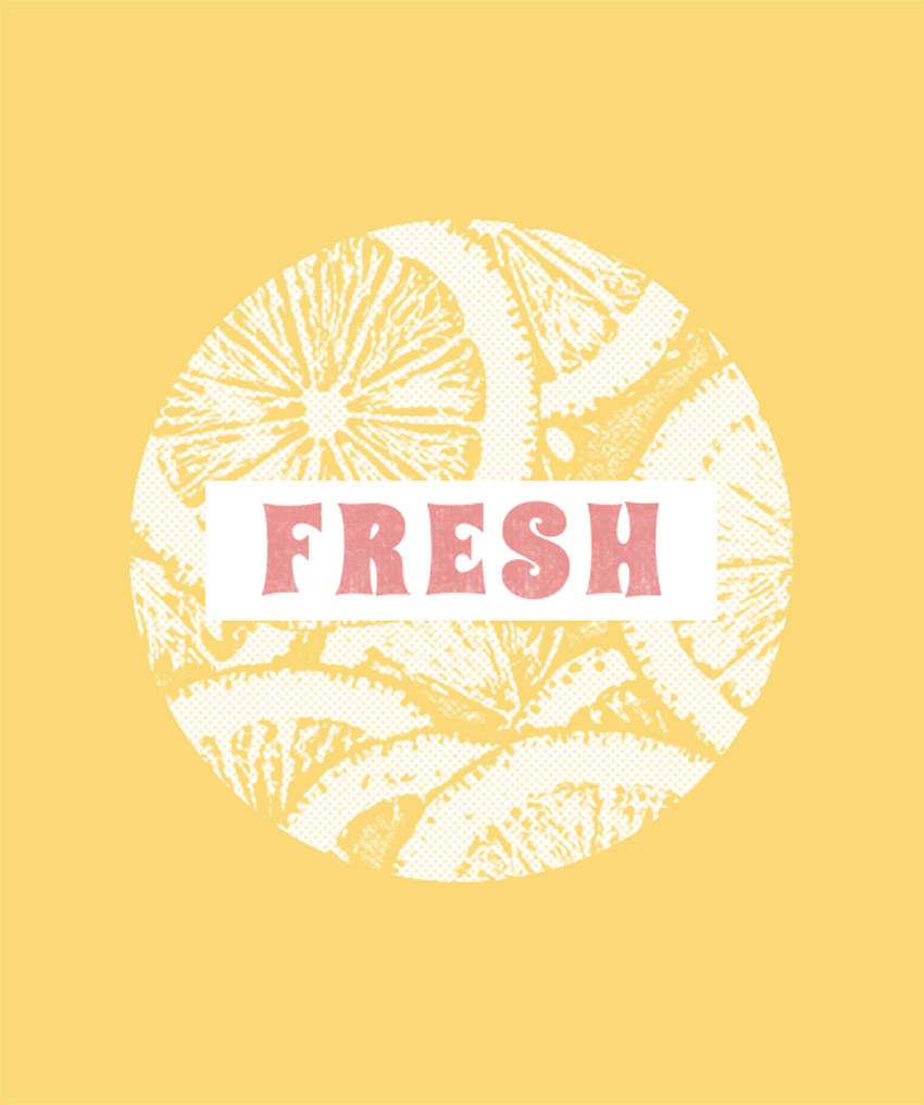 T-Shirt Design Template with Fruit Images