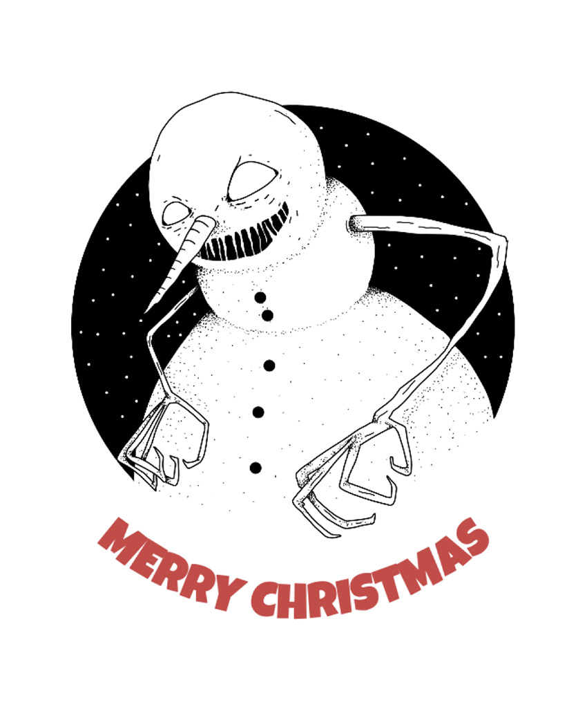 Christmas T-Shirt Design Maker with Evil Snowman