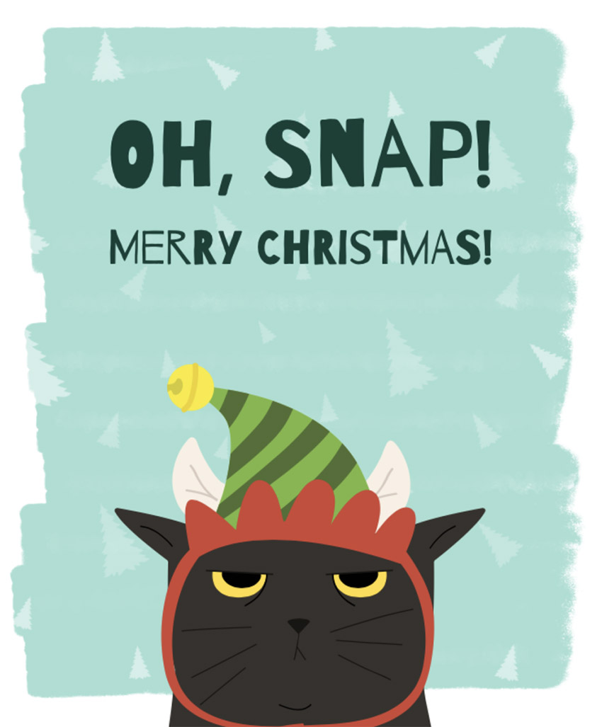 Christmas T-Shirt Design Maker with Grumpy Cat Graphic