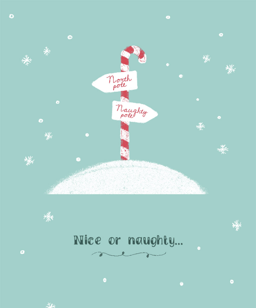 Christmas T-shirt Design Creator with Cute North Pole Sign