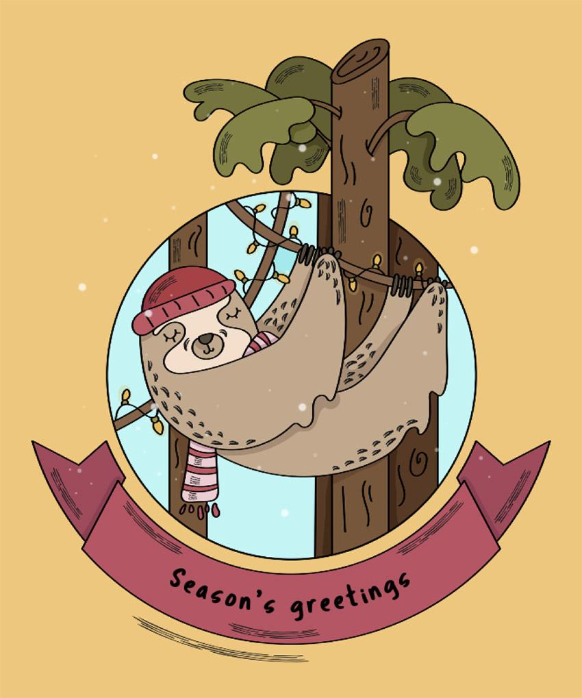 Christmas Tee Design Creator with Sloths