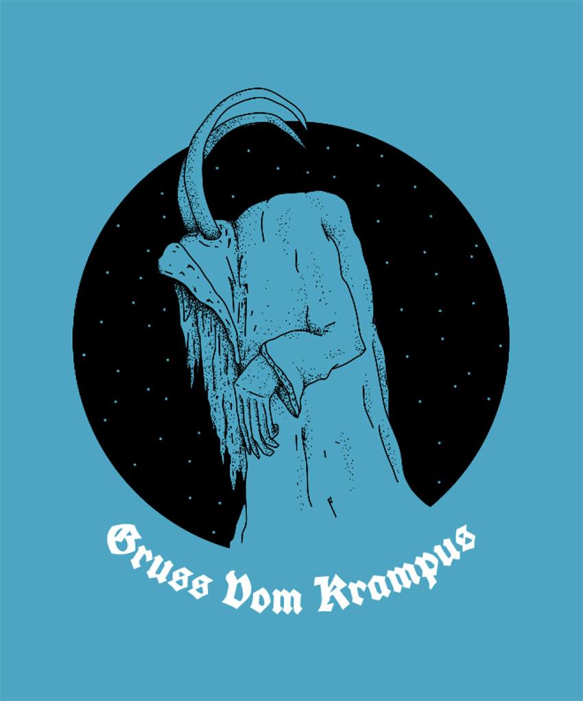 Gruss Vom Krampus T-Shirt Design Template for Christmas