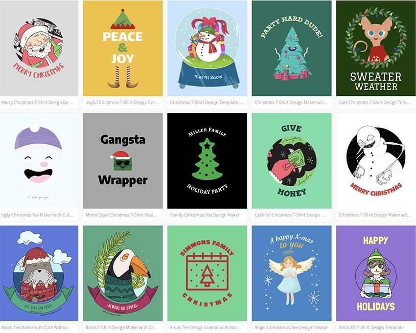 Select A Christmas T Shirt Design