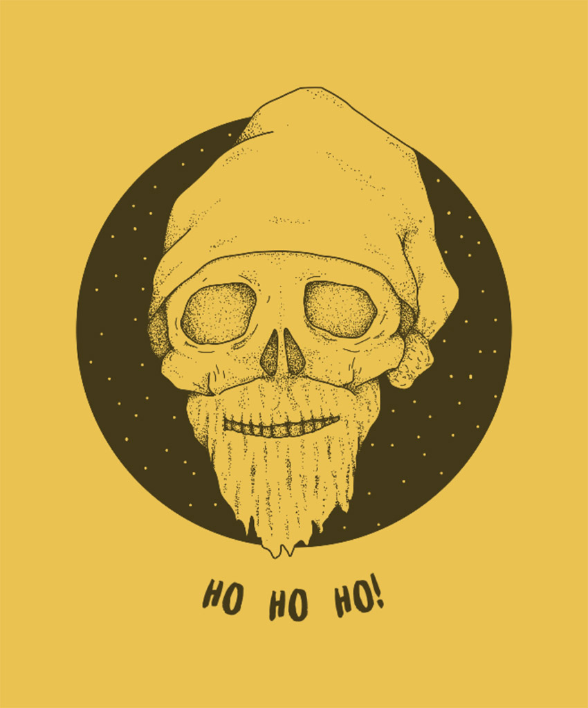 T-Shirt Design Generator for a Scary Christmas