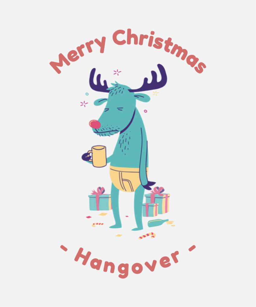 Xmas T-Shirt Design Creator with Funny Reindeer