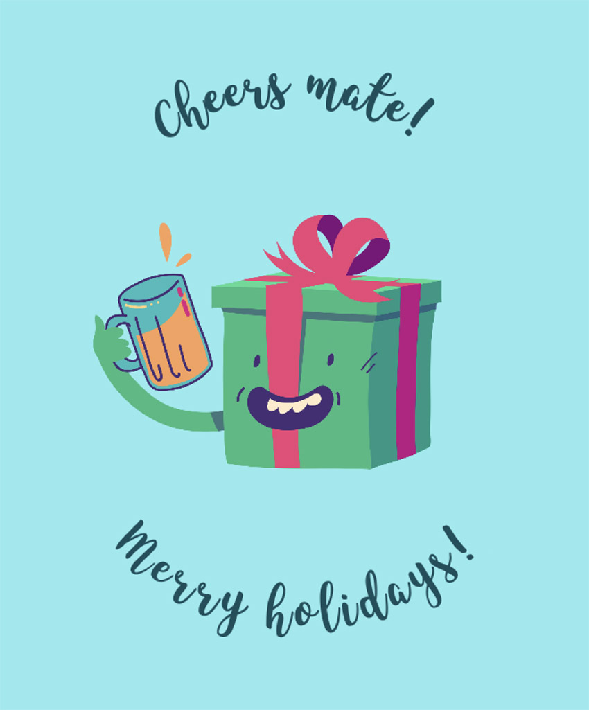 Xmas Tee Design Maker with Cute Christmas Present